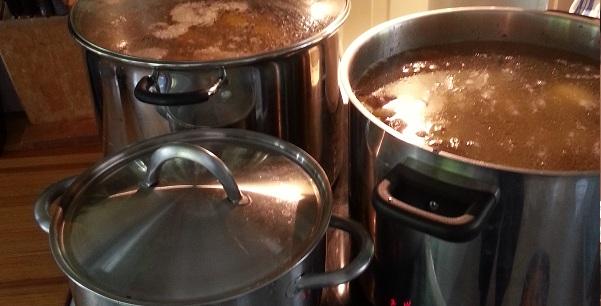 Koking av kraft til suppe
