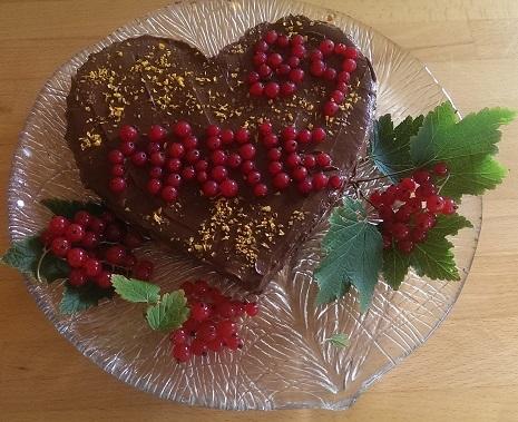 Rå sjokolade kake